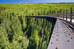 Train trestle on the Kettle Valley Railway near Kelowna, British. Columbia, Canada stock photography