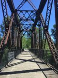 Train Trestle. Old train trestle on a sunny day. Trestle is not a walking bridge stock photos
