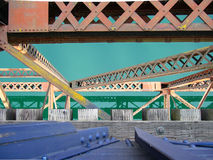 Train Trestle over Water Royalty Free Stock Photos