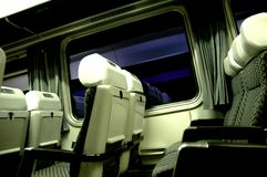 Train Trip. The inside of the train compartment Stock Photos