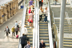 Train Tube station Blur people movement Stock Photo