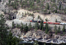 Train/tunnel. A canyon railway Stock Photography