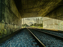 Train tunnel. Details of a train tunnel Royalty Free Stock Photo