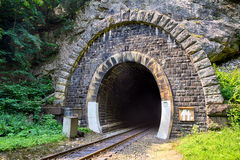 Train Tunnel - Harmanec, Slovakia Royalty Free Stock Photo