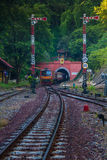 Train tunnel khun tan. Path front tunnel detail tube travel end country locomotive  Train tunnel khun tan Royalty Free Stock Images