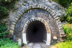 Train tunnel with railway - old Royalty Free Stock Photography