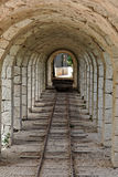 Train Tunnel with Stone Arches Stock Images
