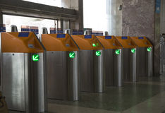 Train turnstile Royalty Free Stock Photos