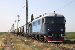 Train. With two old locomotives Stock Photo