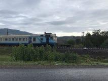 Train in Ukraine stock image