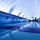 Train on underground platform Stock Photography