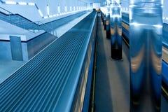 Train on underground platform Stock Image