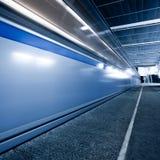 Train on underground platform Royalty Free Stock Photos