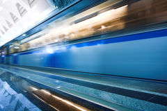 Train on underground station Royalty Free Stock Image