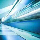 Train on underground station Stock Photos