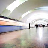 Train on underground station Royalty Free Stock Photos