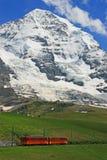 Train up to Glacier Jungfraujoch Stock Photo