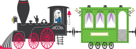 Train. Vector illustration. Included EPS file Royalty Free Stock Image