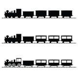 Train vector illustration black silhouette Stock Images