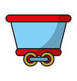Train vehicle isolated icon Royalty Free Stock Photography