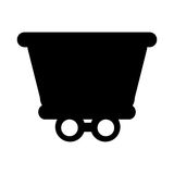Train vehicle isolated icon Stock Photography
