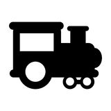 Train vehicle isolated icon Stock Images