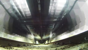 Train, view from below. Cargo train, view from below stock video footage