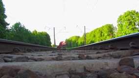 Train, view from below stock footage