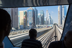 Train view Dubai Metro Stock Photo