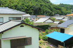 Train view of japanese style house. The train view of japanese style house stock images