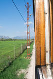 Train view. A view from a traditional train in Spain royalty free stock photo