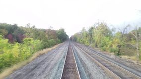Train View. The view from a train as it travels through New York State hd, 25fps stock footage