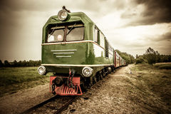 Train vintage look. Train vintage retro old look stock photos