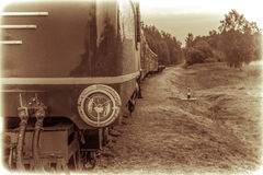 Train vintage look Stock Photography