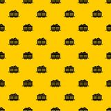 Train waggon with coal pattern vector. Train waggon with coal pattern seamless vector repeat geometric yellow for any design stock illustration