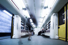Train wagon in Moscow metro Royalty Free Stock Photography