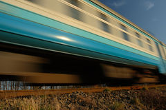 Train wagon in motion Royalty Free Stock Photo