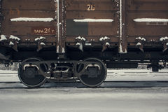 Train wagon in winter Stock Photos