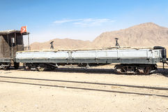 Train wagons in the desert Stock Photography