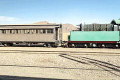 Train wagons in the desert Stock Photos