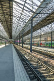 Train waiting for departure in Helsinki railway station Royalty Free Stock Photos