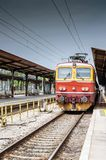 Train waiting for passangers on Main train station in Zagreb stock photos