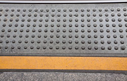 Train waiting point background Stock Photography