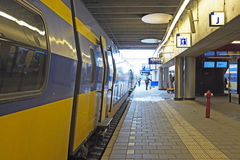 Train waiting at Utrecht station in Netherlands Royalty Free Stock Photography