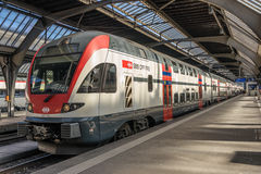 Train waiting at Zurich rail station Stock Images