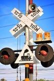 Train warning sign Royalty Free Stock Photos