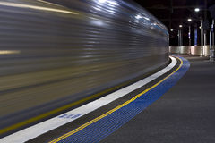 Train waverton blur Royalty Free Stock Images