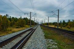 Train the way to Siberia Royalty Free Stock Photo