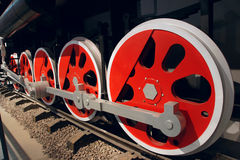 Train wheel. The close-up of train wheel Stock Images