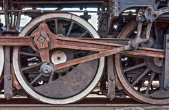 Train wheel detail royalty free stock photo